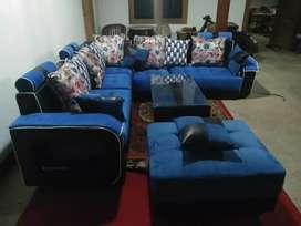Kursi tamu sofa sudut oebobo