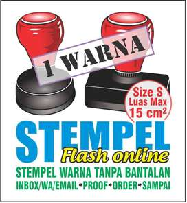 Buat Stempel Warna/Flash/Otomatis 1 Warna, size S
