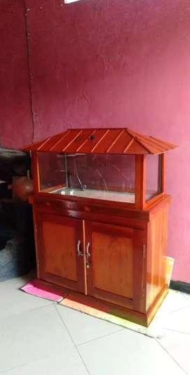 Rumah / Lemari Aquarium Mahoni