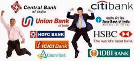 HDFC BANK IDFC BANK BAJAJ Consumer Loan files sitting job showroom