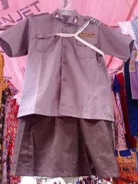 baju polisi tk cowok cewek panjang pendek 150 rb