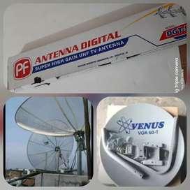 Bergransi pasang antena tv uhf digital hd12 outdoor gambar bening