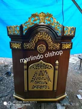 Mimbar podium khutbah masjid sofa bangku bale bufet tv