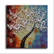 lukisan kanvas bunga