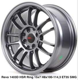 jual velg termurah REVO 1403D HSR R15X7 H8X100-114,3 ET35 SMG