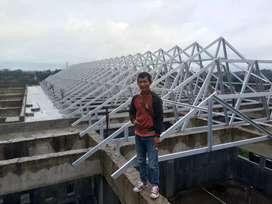 Rangka atap baja ringan dan plavon pvc
