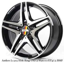 Velg Mobil Suzuki Ertiga HSR ANTLERS L1303 R17X75 H5X112 ET47,5 BMF
