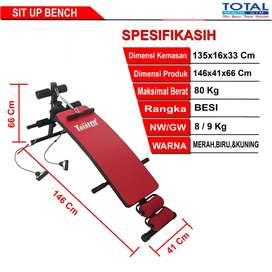 Sit Up Bench Total Fitness - Pembentuk Tubuh