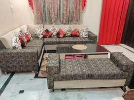 Sofa set and centre table - urgent sale