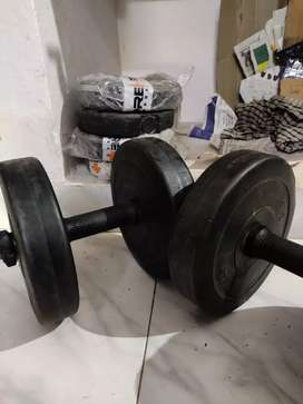 Two 6Kg Dumbell with additional 8kg weight