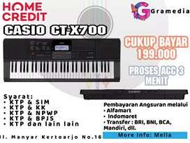 Promo Kredit CASIO CT-X700 Gratis 1× Angsuran di Gramedia Manyar