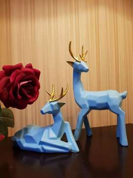 Deers sculpture pair with original box packing