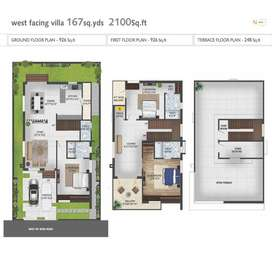"167syd Individual VIlla""s at Duvvada in 48 Acrs Mega  gated community"