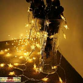 LED Garland Stars Tree Warm Light 20 LED