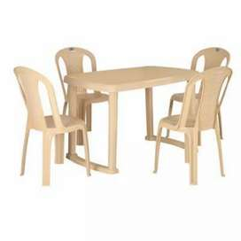Cello dinning table with 4 chairs fixed price very good condition