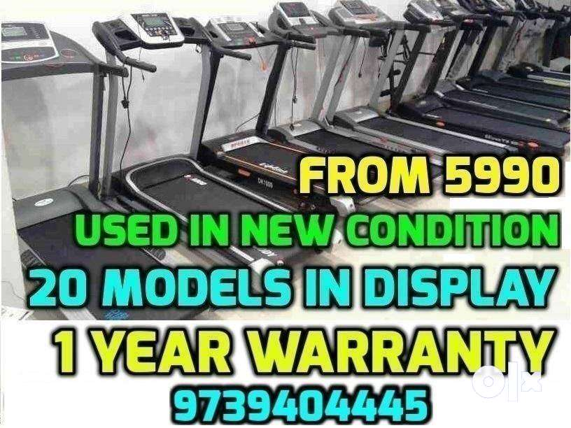 USED TREADMILL 5,990 onwards 1 YEAR WARRANTY 20 Models Don't be afraid 0
