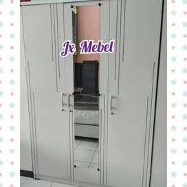 JX MEBEL Lemari 3 Pintu White Pku