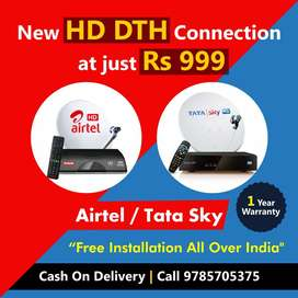 New DTH Connection Offer Tata Sky, Airtel, Dish TV.