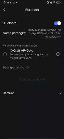 Jual headset bluetooth Xcraft hp gold