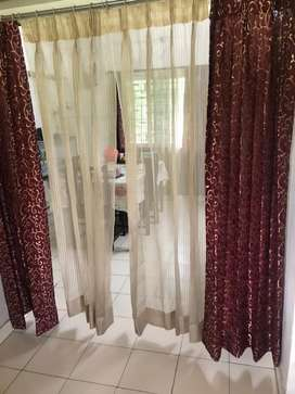 Set of 14  curtains