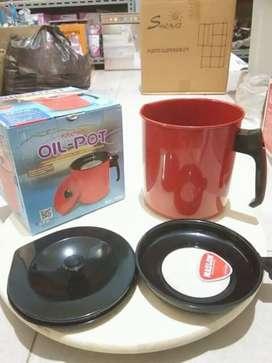 Oil pot maspion bahan enamel 1.5 liter