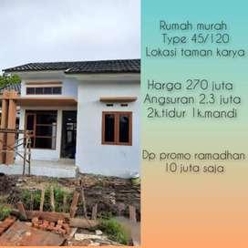 Rumah type 45/120 taman karya