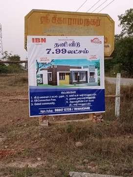 Individual Villa House at 7.99 Lacs in Thakolam
