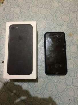 Dijual iphone 7 black 128gb original