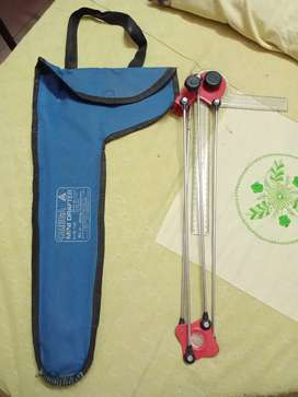 Mini drafter for engineering drawings with bag