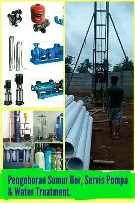 Jasa Sumur Bor, Servis Pompa & Water Treatment