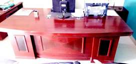 Office Counter And wheel Chairs and three seater