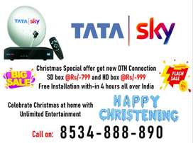 DTH Tata Sky Dishtv Airteltv Tatasky New Connection Book Now Offer HD!