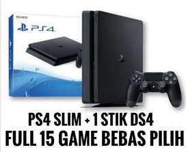 PS4/PS4 Slim 500GB free 15 GAME Bisa Pilih