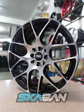 jual hsr wheel type mandong ring 17x7,5 h8(114,3/100) di ska ban