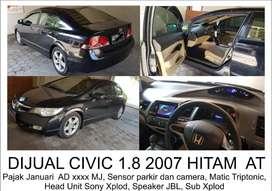 Jual civic 2007 AT Hitam