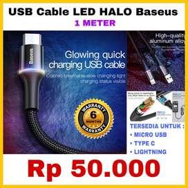Kabel Charger USB Adapter BASEUS ORIGINAL - Bergaransi 6 Bulan - READY