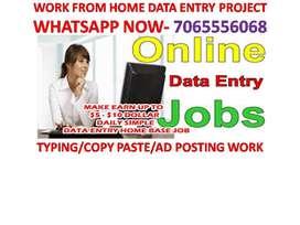 OFFLINE HOME BASED DATA ENTRY JOB WORK FROM HOME COPY PASTE JOB