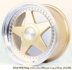 PERUGIA JD08 HSR R17X75/85 H8X100-114,3 ET45/38