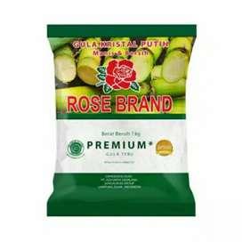 Rose Brand Gula Pasir Rose Brand Kemasan Hijau dan Kuning 1 Kg