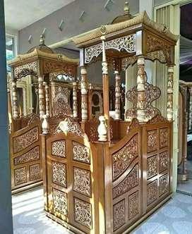 Jual mimbar masjid dari Jepara jawa Tengah