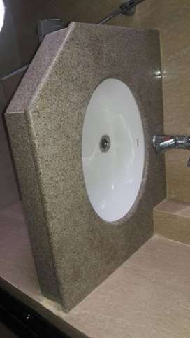 brand new Hindwere wash basin with Granite base 3 pes