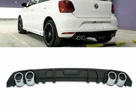 Volkswagen Polo rear bumper Diffuser abs plastic with tips