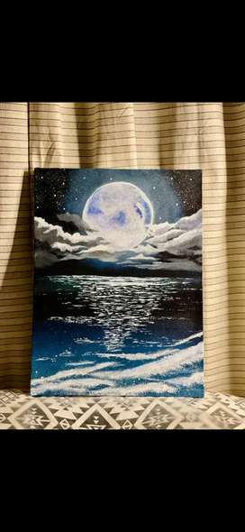 The Moon - Wall Painting