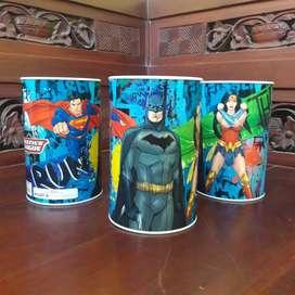 Celengan Koin Bank Justice league Batman Superman Wonder women