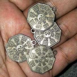 liontin simbul china silver antik 4 biji