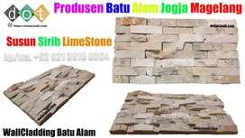 Dinding batu alam limestone