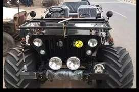 Modified open black jeep