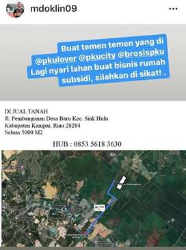Di jual tanah daerah pekanbaru