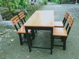 Set meja kursi cafe murah meriah