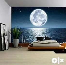 Customized 3D Wallpaper at best price Starting from Rs.70 per sqft  Al